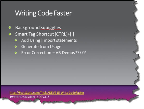 DEV315-09-WriteCodeFaster